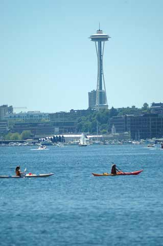 Kayakers on Lake Union, Seattle